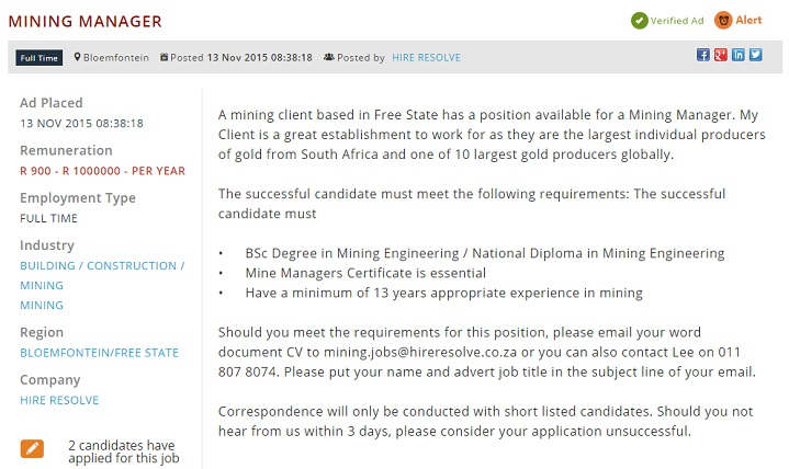 mining-manager-vacancy
