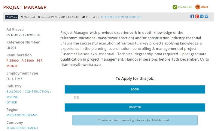 telecommunications-project-manager