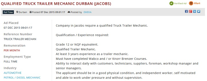 Qualified-Truck-Trailer-Mechanic-Durban-(Jacobs)