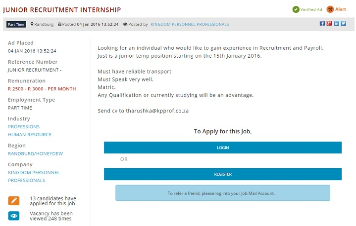 recruitment-internship