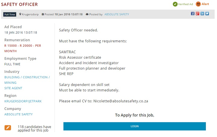 safety-officer-vacancy