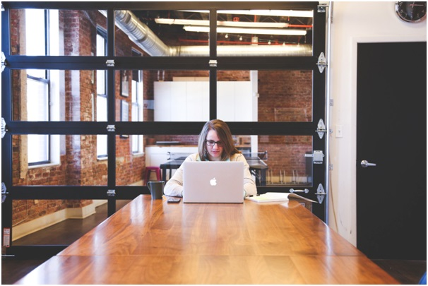 Female Employee Working