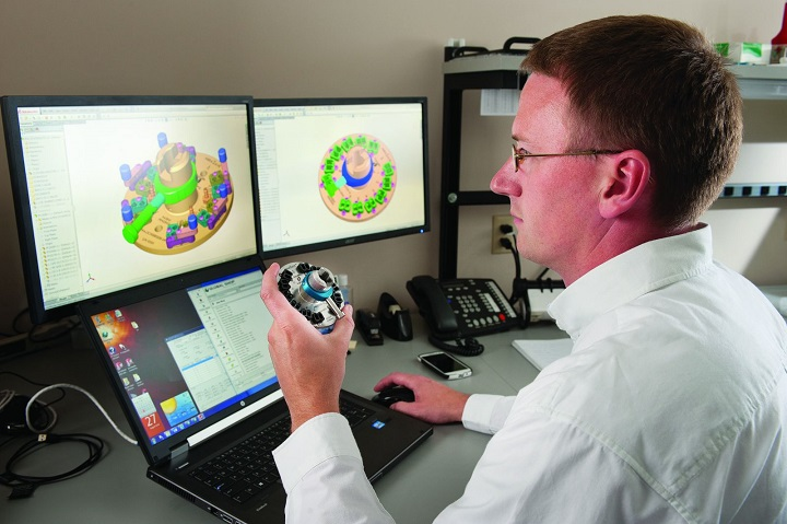 mechanical engineer at work