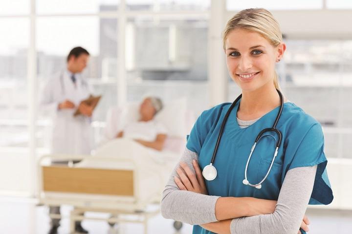 nurse on duty at a hospital