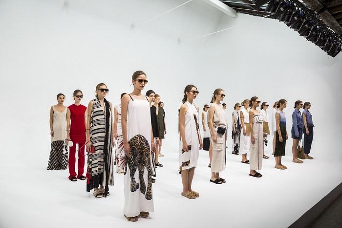 fashion designer displaying their work