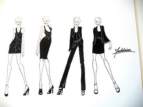 work of a fashion illustrator