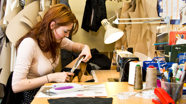 fashion pattern maker at work