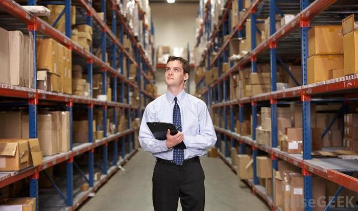 warehouse clerk on the job