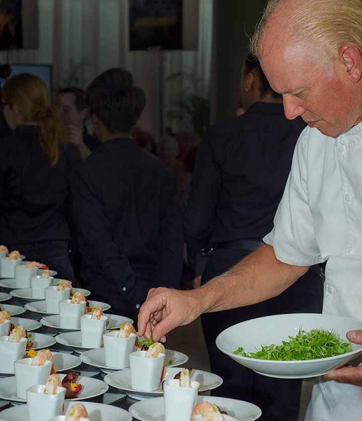 working as a professional caterer