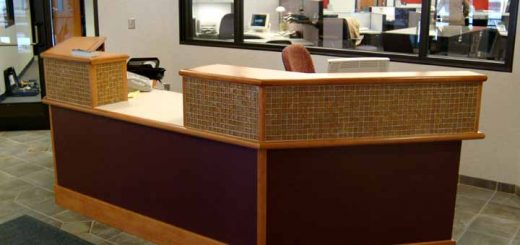 front desk receptionist table