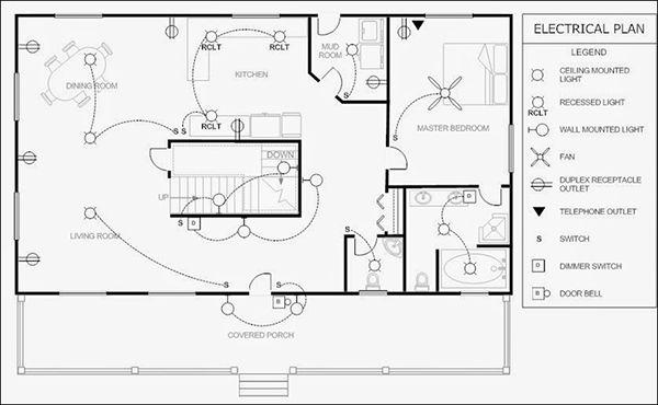 electrical plan of a house