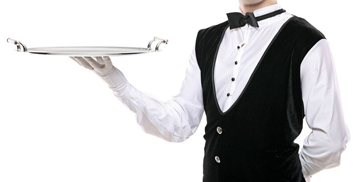 waiter on duty