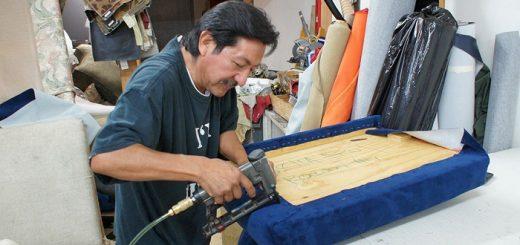 working upholsterer