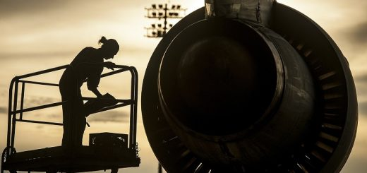 plane engine mechanic work
