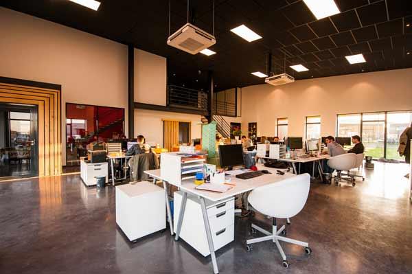 People in open office