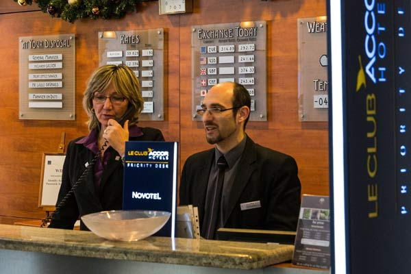 Hotel reception staff
