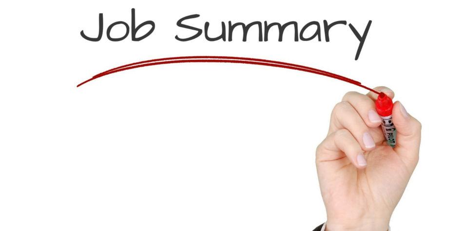 Write A Clear Job Summary   Job Mail