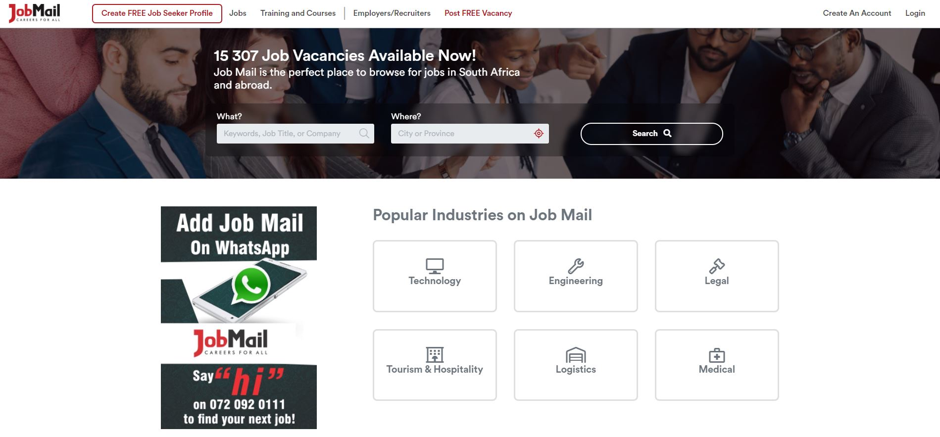 2020 Job Mail Website