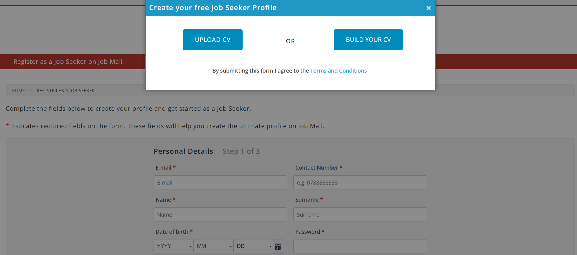 Create a FREE Job Seeker Profile on Job Mail