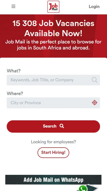 Job Mail Mobile Website